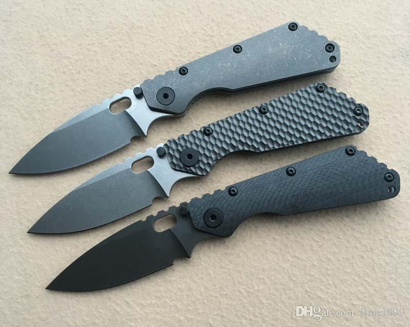 Carbon Fiber Titanium Handle D2 Blade Copper Washer Folding Knife Camping Outdoor Tools Knife EDC Tools