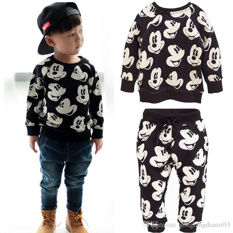 Discount Baby Boy Girls Mickey Mouse Long Sleeve Tops T Shirt+Pants  Leggings Clothes Outfits Set From China | Dhgate.Com - Discount Baby Boy Girls Mickey Mouse Long Sleeve Tops T Shirt+