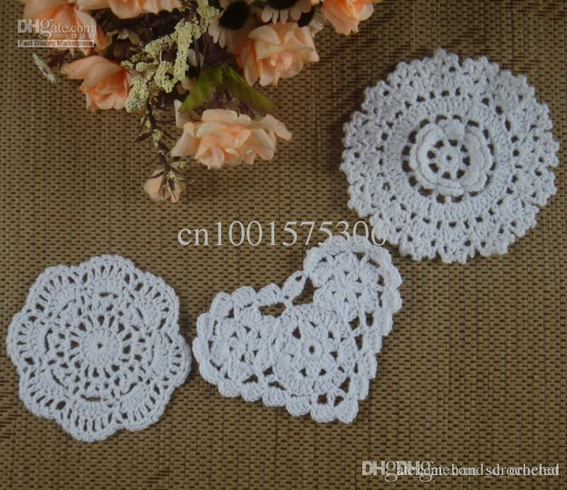 Wholesale Round 3d Crochet Pattern Doily Hand Made Crochet Cup Mat ...