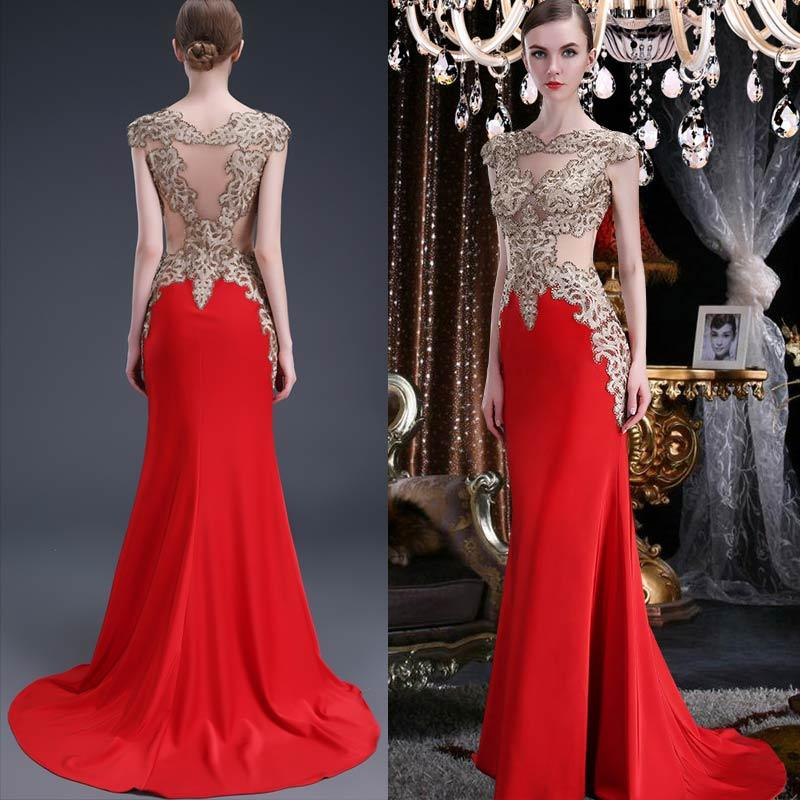 2016 Formal Dresses Evening Wear Sequin Beaded Bodice