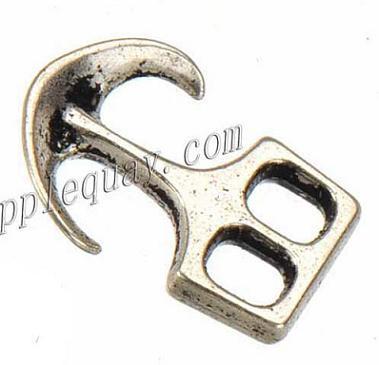 100 stücke neue diy modeschmuck erkenntnisse metall vintage silber 2 löcher anker verschlüsse für lederarmbänder kippt haken 25 * 18mm