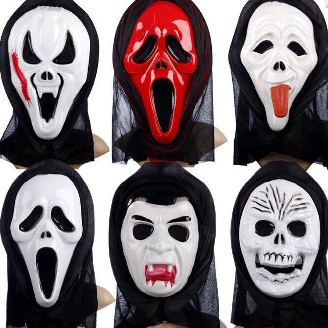 Halloween Costumes Skull Skeleton Monster Ghost Demon Face Ghost ...