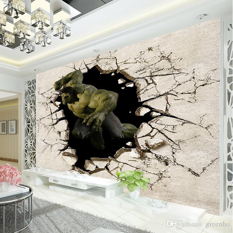 Avengers Boys Bedroom Photo Wallpaper 3d Hulk Wall Mural Designer