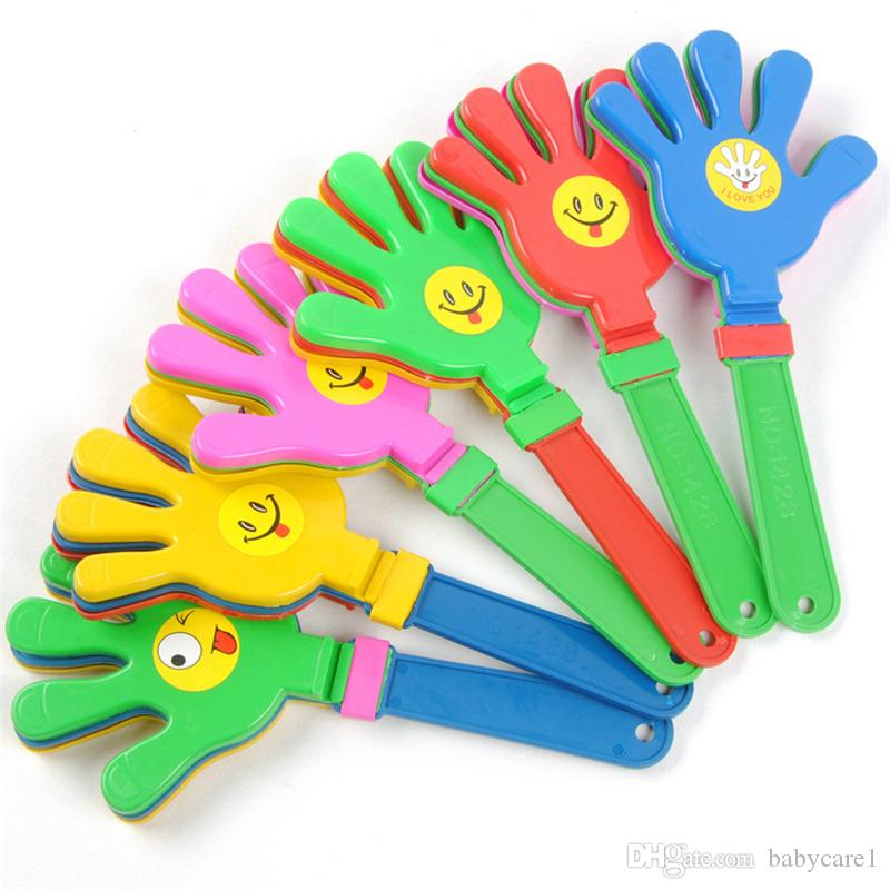 Fashion colorful hand clapper Concert party cheering props children clap Noise Makers small hands clapping toy