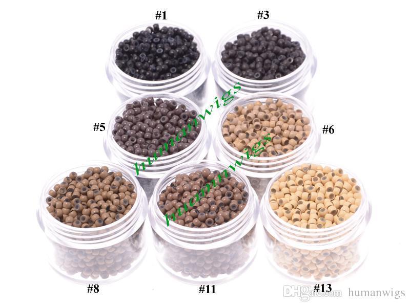 2.9mm de diámetro micro nano anillos / enlaces / perlas para anillos de nano extensiones de cabello, herramientas de extensión de cabello, es envío gratis