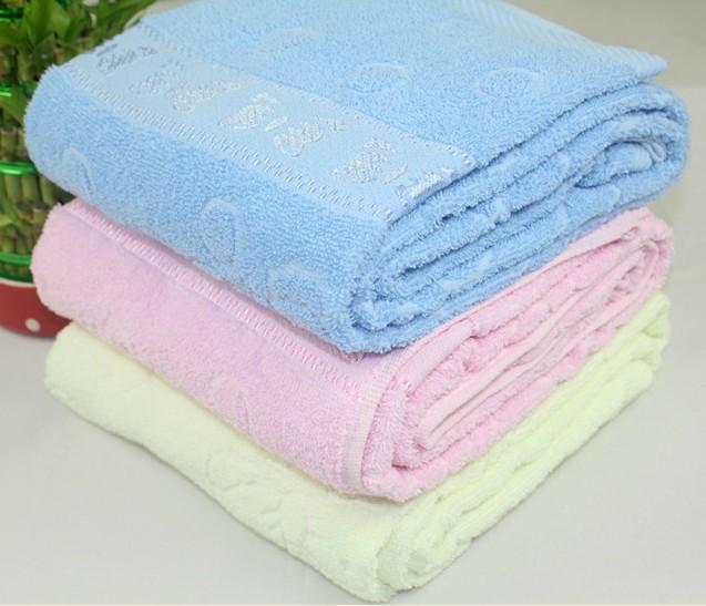 Kids bath towel children robes cotton plain three colors pink blue yellow larger size 140.0CM bed sheet