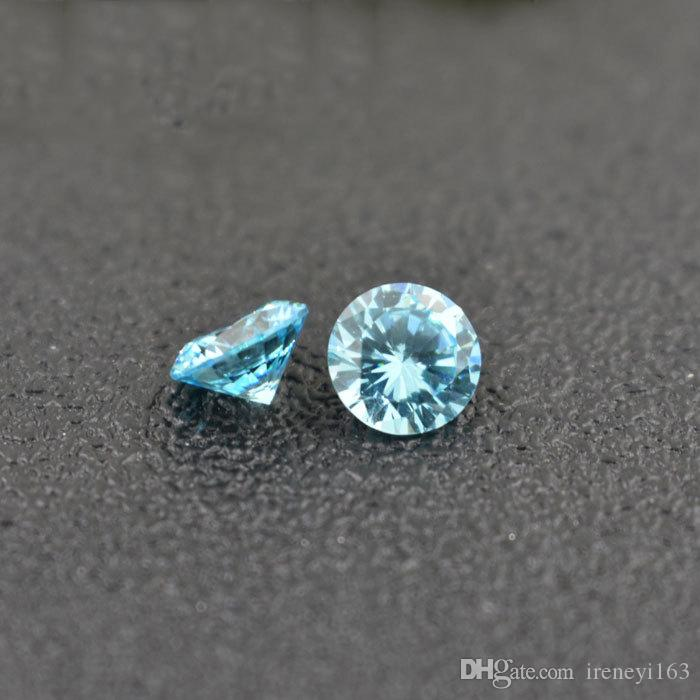 High Qulaity 3A Lab Created Emerald Cubic Zirconia Birthstones Round 3mm Jaunary To December Loose Diamond For Jewelry Making
