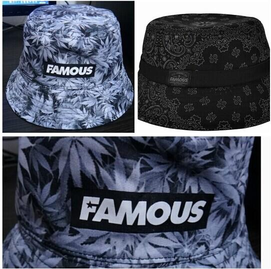 7cfc7619595 2019 Adult Famous Stars Straps Women S Men S Weed Paisley Bucket Hat Cap  Hip Hop Urban Street Wear From Sallyshaw