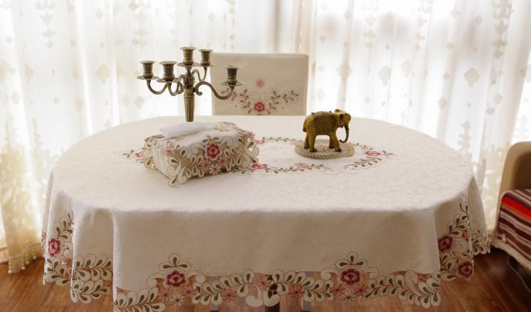 Oval 140220cm Embroidery Tablecloth Polyester Tableclothl Table Rhdhgate: Home Decor Tablecloth At Home Improvement Advice