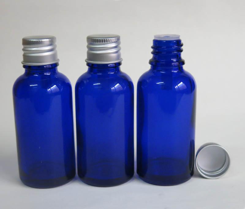 도매 코발트 블루 유리 병 30 ml, 블루 코스메틱 용기, 조작법 분명 상단 병 블루 유리