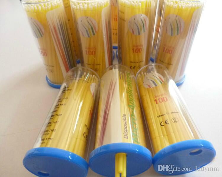 24,000 Stücke Einweg Wimpernbürste Einweg-Wattestäbchen Micro Applikatoren Bürsten Einzelne Wimpernverlängerung Werkzeug Lash / Kleber Entfernen Werkzeuge
