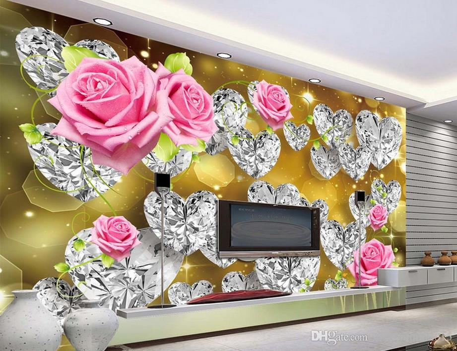 benutzerdefinierte 3D-Fototapete Prestige Romantik Romantische Rose Flower Rose Wandbild 3D Wallpaper