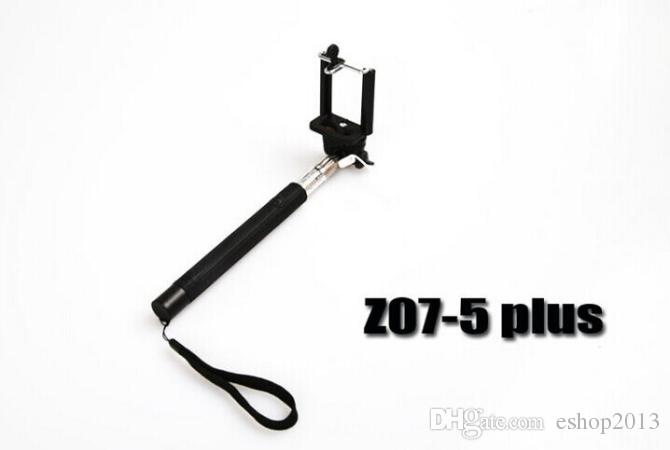 Z07-5 Plus Cable Take Pole Selfie Stick Extendable Monopod Tripod Handheld Wired for iPhone 5s 6 plus IOS Android Smart Phone hot