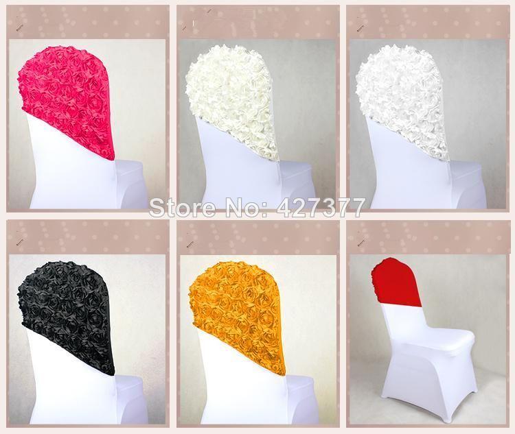 new arrival flower chair cover cap chair sash sashes