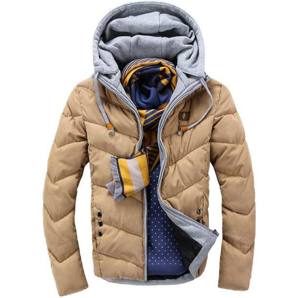 Online Cheap Best Selling Casual Slim Mens Winter Jacket Hooded ...