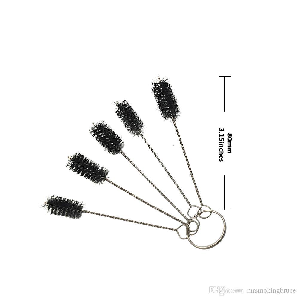 Kleine Bürste Set von 5 Mini Pinsel Kit Vaporizer Vape Rohr Shisha Tattoo Spray für Glas Bubbler Tabakpfeife Shisha Shisha