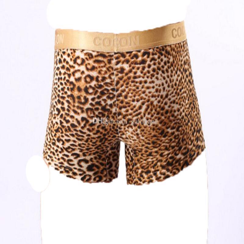 COCKCON Men's Boxers Phnom Penh Leopard Convex Underwear Sexy Leopard Male Boxer Underwear Men Boxer