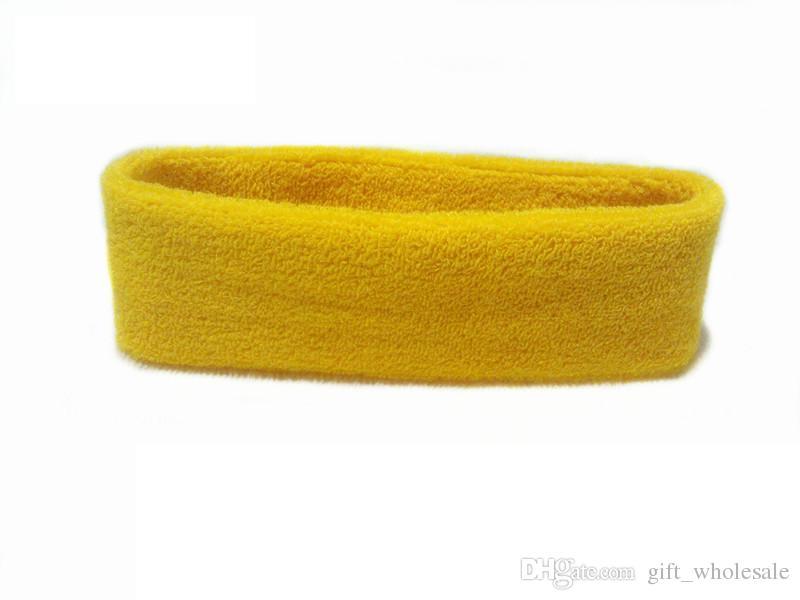 NEW Cotton Women Men Sport Sweat Sweatband Headband Yoga Gym Stretch Head Band Hair - Randomly Send