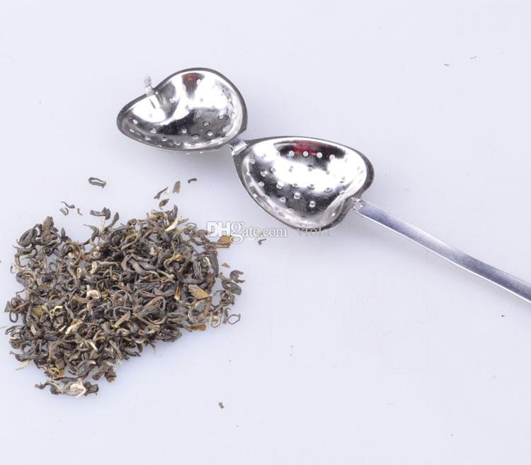 """Tea Time"" Heart Tea Infuser Heart-Shaped Stainless Herbal Tea Infuser Spoon Filter"