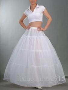 Accesorios de boda blanco Vestido de gala Vestidos de novia para bodas para quinceañera 3 de acero Crinolina Tul debajo de la falda para vestidos de novia