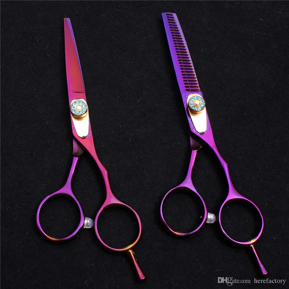 "C1020 6"" 17.5cm Japan Laser Wire Customized Logo Professional Human Hair Scissors Barbers' Scissors Cutting Thinning Shears Style Tools"