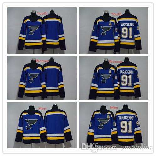 f6914388a 2018 Men Women Youth 91 Vladimir Tarasenko Hockey Jersey 2018 St. Louis  Blues Hockey Jerseys Stitched Ladies Boys Tarasenko Jerseys Blue New From  Janeonline ...