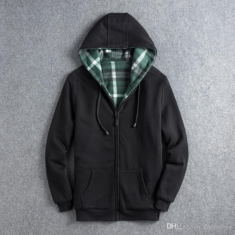 8a3bad6546b 2019 Top 1KG 2 Sides All Match Autumn Winter Men S Sweatshirts Livergy  Fashion Long Sleeve Slim Hooded Jacket Gentlemen Clothing Zipper Pollar  From ...