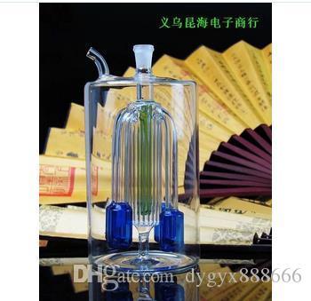 클래식 용량 멀티 레이어 필터 유리 물 담뱃대 높은 14.5CM 너비는 8CM, 스타일 색상 임의 배송, 도매 유리 물 담뱃대, 대형 좋아