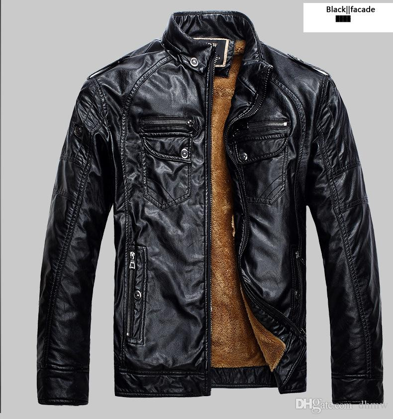 2018 Hot Sale Fashion Men S Leather Jacket Men S Casual Quality
