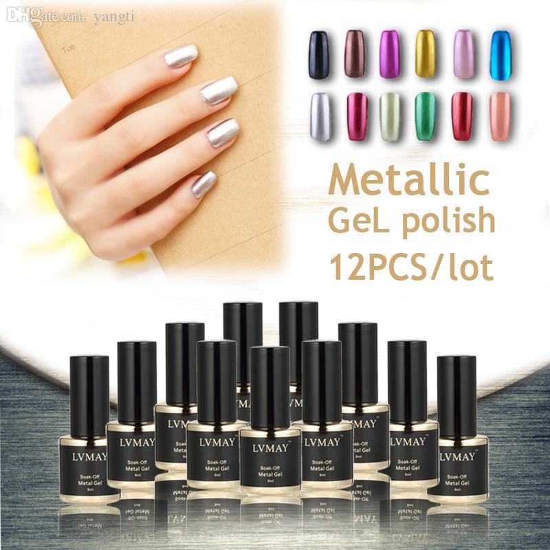 Wholesale New Metallic Gel Nail Polish Soak Off Mirroruv Uv Gel Nail ...