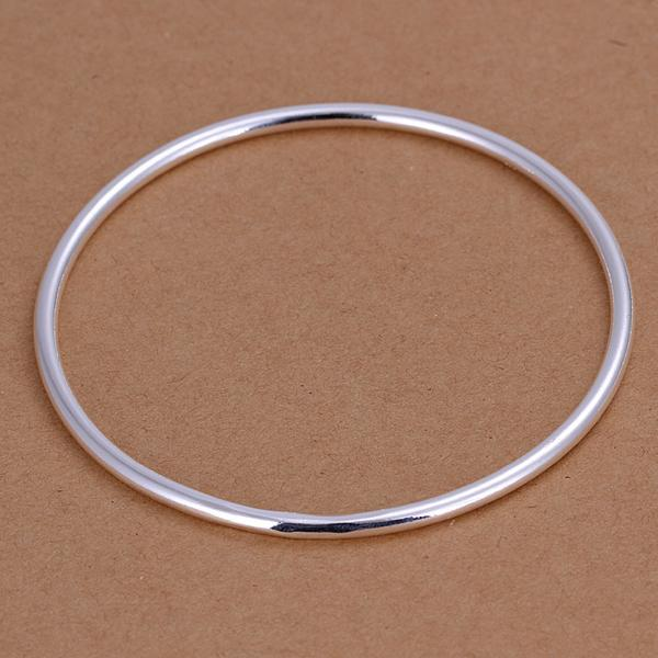 Hot Selling 925 sterling silver 3MM Smooth Round Bangle Men's Bangle Bracelet