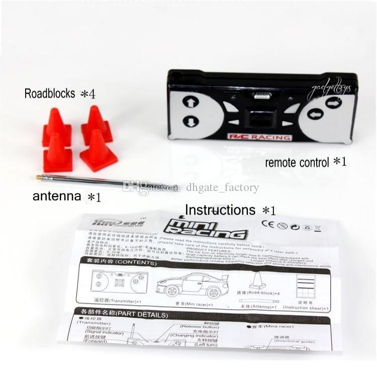 8 renk Mini-Racer Uzaktan Kumanda Araba Coke Mini RC Radyo Uzaktan Kumanda Mikro Yarış 1: 64 Araba 8803 noel hediyesi
