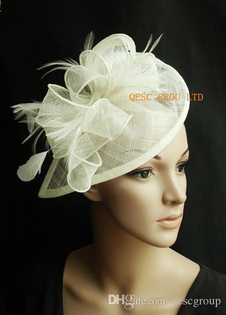 Cream Ivory Sinamay Fascinator Hat for Wedding Party. Sinamay Fascinator  Fascinator Church Hat Online with  33.73 Piece on Qescgroup s Store  239ab6cae50