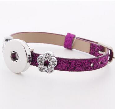 Fluorescent powder 18mm Noosa Button DIY leather bracelet jewelry accessories snap button giner interchangeable button watch wristband