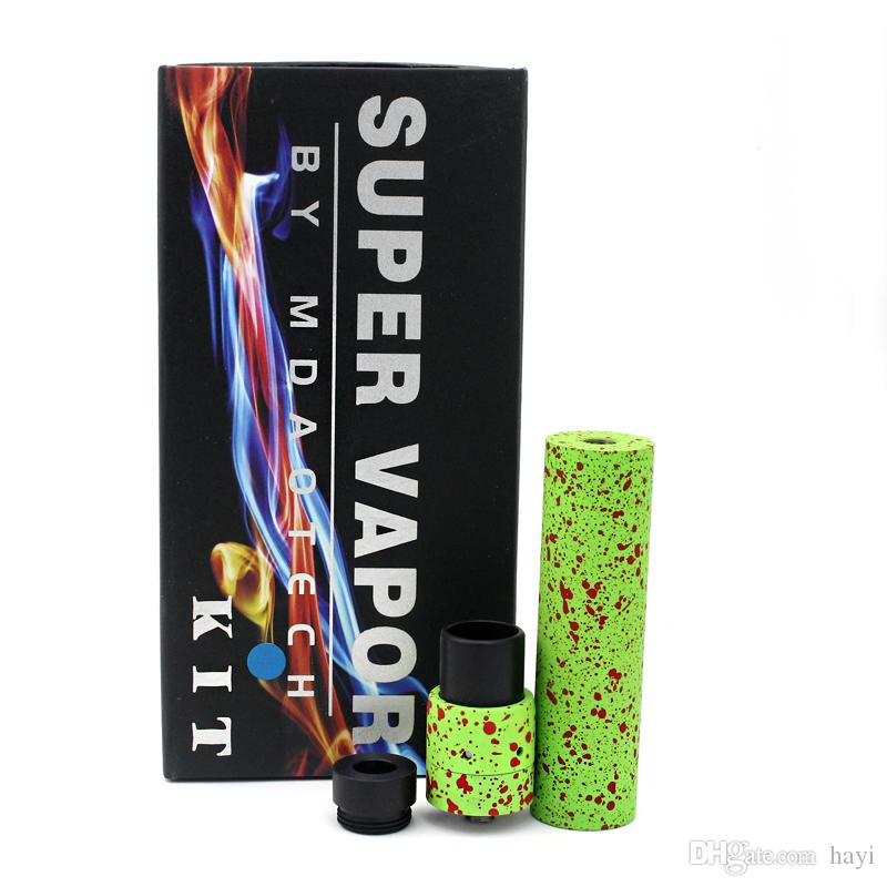 Metal SMPL Mechanical MOD MINI Velocity RDA KIT Wide Bore Drip Tips for 18650 battery vs Manhattan Fuhattan AR mod