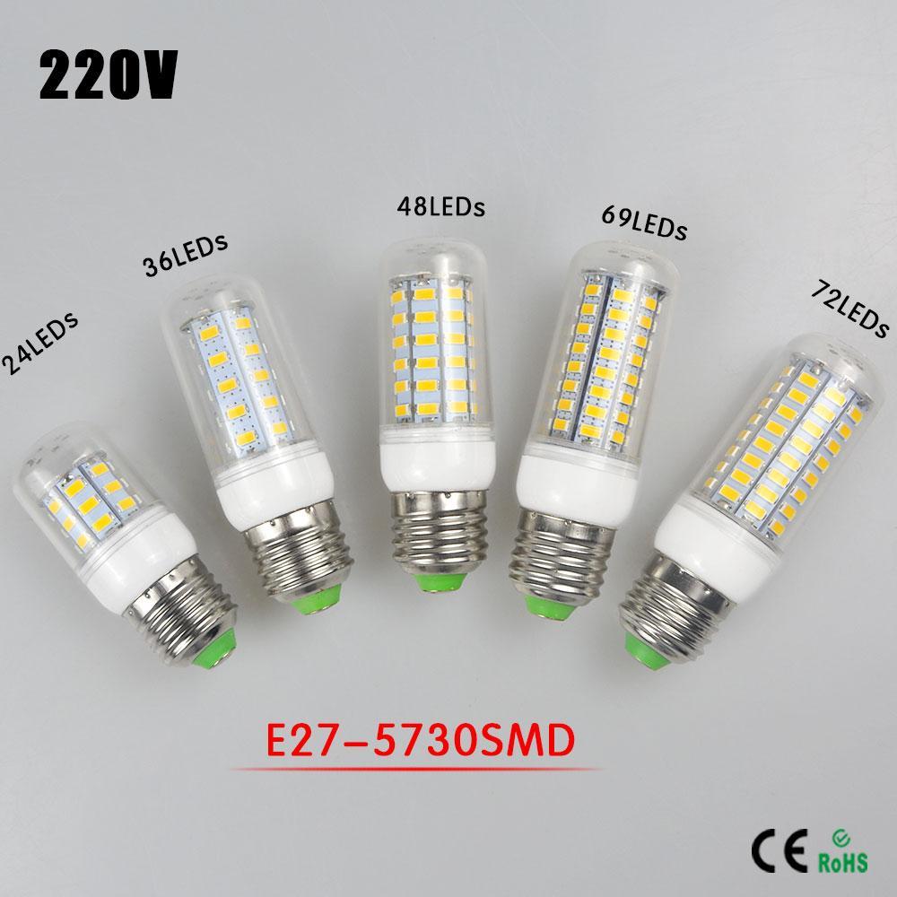 Großhandel Neue Upgrade E27 Led Lampe 220v 5730 Smd Chip Led Mais ...