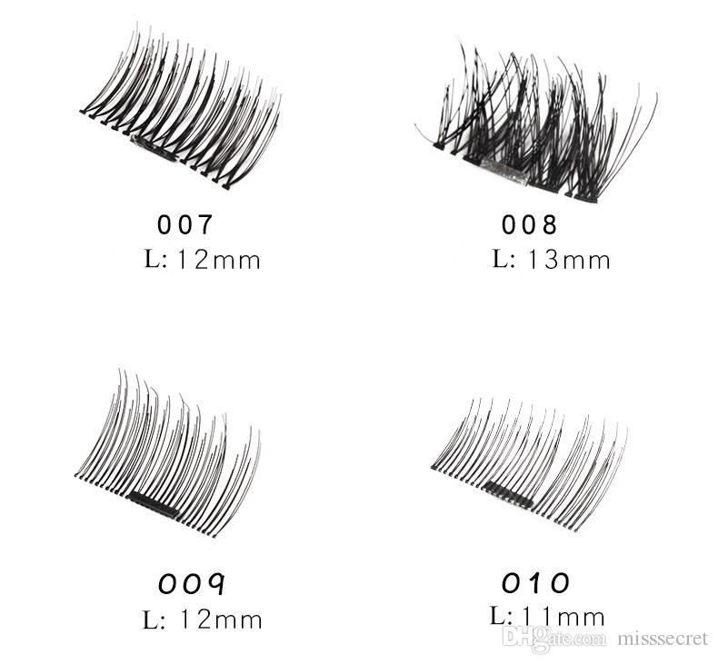4 adet / takım Manyetik Göz Lashes 3D Vizon Kirpikler Yanlış Mıknatıs Kirpik Uzatma 3d kirpik uzantıları manyetik kirpik göz makyaj