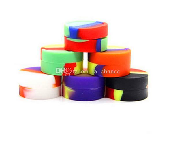 Récipients en silicone pour récipients pour l'huile de cire Contenants de silice en plastique Dab 5mL 32 * 18mm Dab Plastique Conteneurs en silicone pour tests de passage de cire FDA LFGB