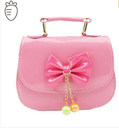 2016 Girls Handbags Kid Bags With Butterfly Bowtie Purse Candy ...