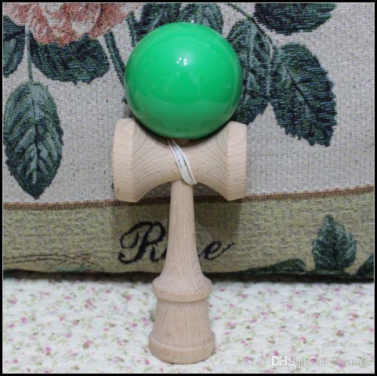 18.5 см большой размер Kendama мяч японский традиционный дерево игра игрушка образование подарок случайные цвета новинка игры игрушки подарок J071502#