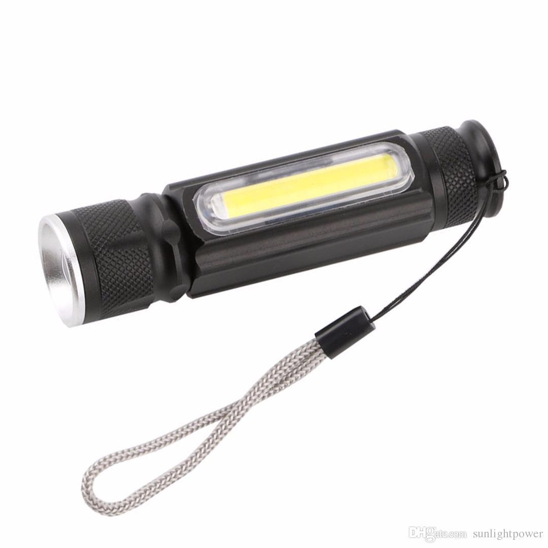 Imán lámpara de camping mini usb linterna led cree xml t6 antorcha linterna led recargable impermeable zoom 18650 batería flash luz