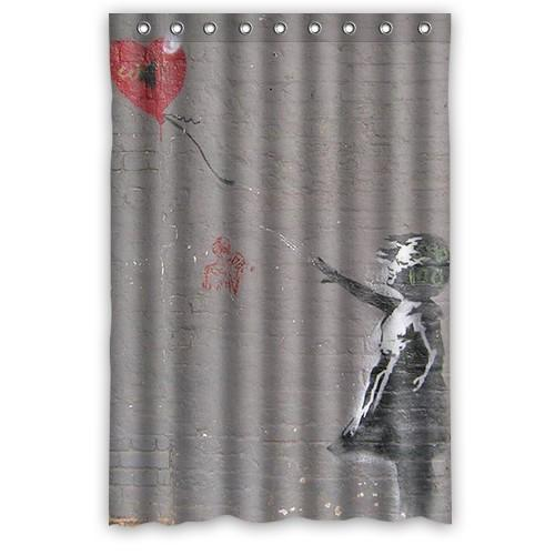 2018 Banksy Girl Balloon Art Quote Shower Curtains 48x72 Home Decor Bath Curtain On Sale From Littleman913 3618