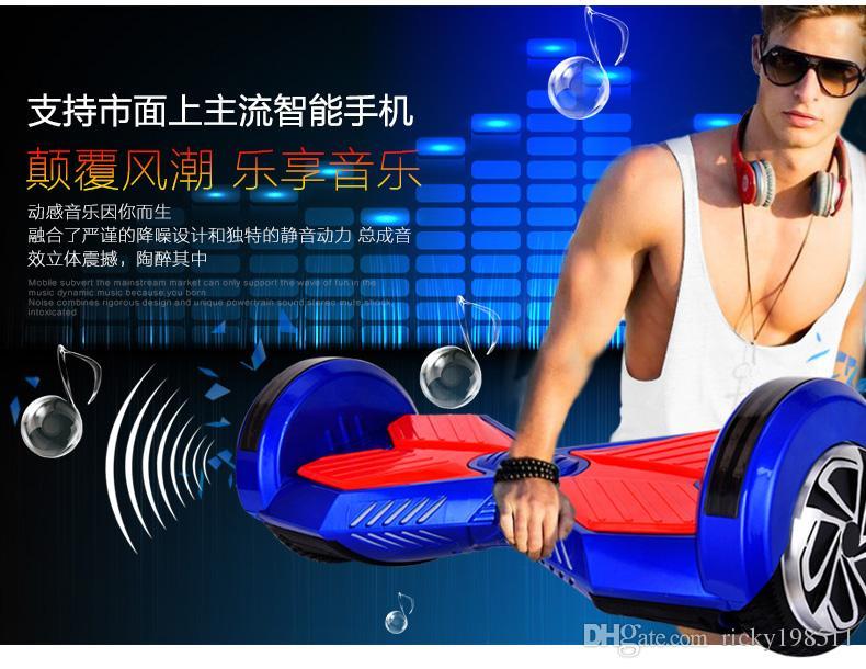 Sıcak Promosyon Yeni Uzaktan Akıllı Öz Dengeleme Scooter Iki Tekerlekli Elektrikli Scooter 2 Tekerlekler Hover Kurulu