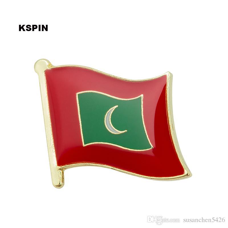 Spedizione gratuita in metallo del Madagascar Badge Badge Flag Pin KS-0110