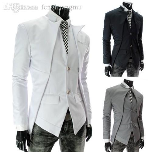 2017 Wholesale Men Coat Suit Mens Fashion Blazers Fake Two Piece ...