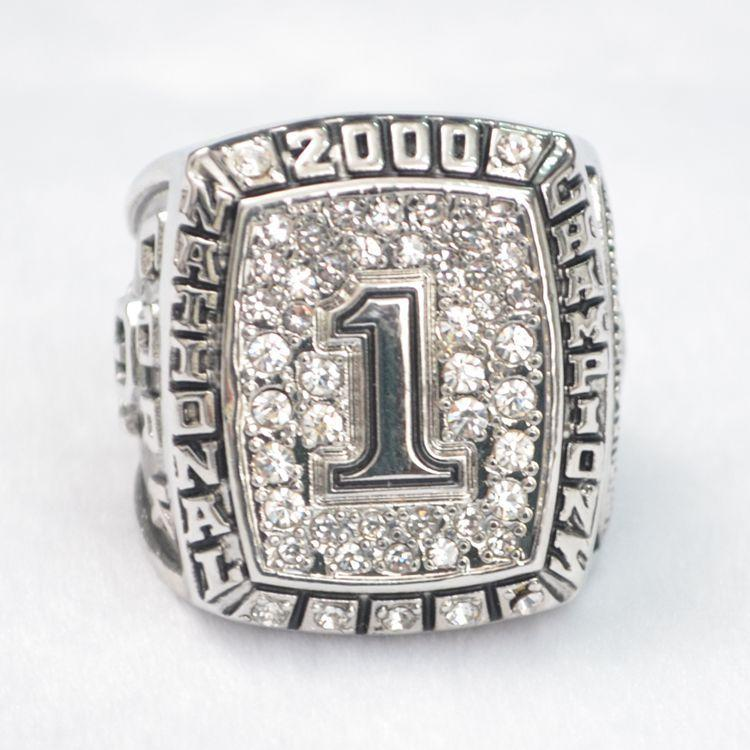 N.C.A.A Rugby bol d'or 2000 bague de mode de l'université d'Oklahoma Collection de fans