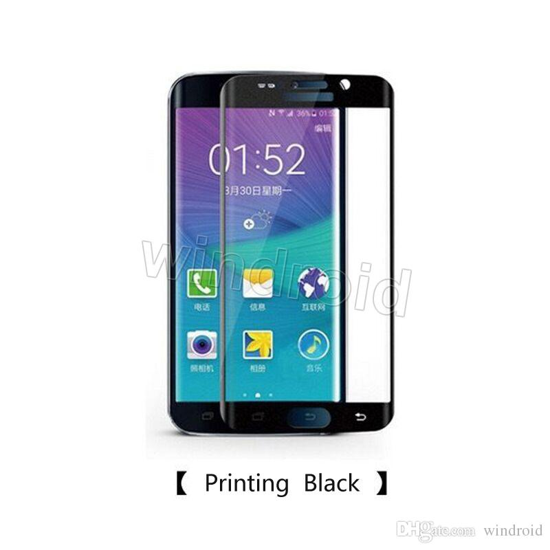 Cheapest for samsung galaxy s6 S7 edge plus 0.3mm Full Cover 3D Curved Silk-screen 9h Film tempered glass screen protector with package 200