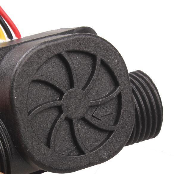 Medidor de caudal de fluido de agua G1 / 2 práctico Contador de interruptor de 1-30L / min HB88