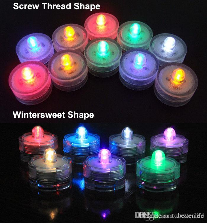 Colorido LED Luz de té Vela bombilla blanca Impermeable Velas Luz de té Funciona con pilas Boda Fiesta de cumpleaños Decoración de Navidad