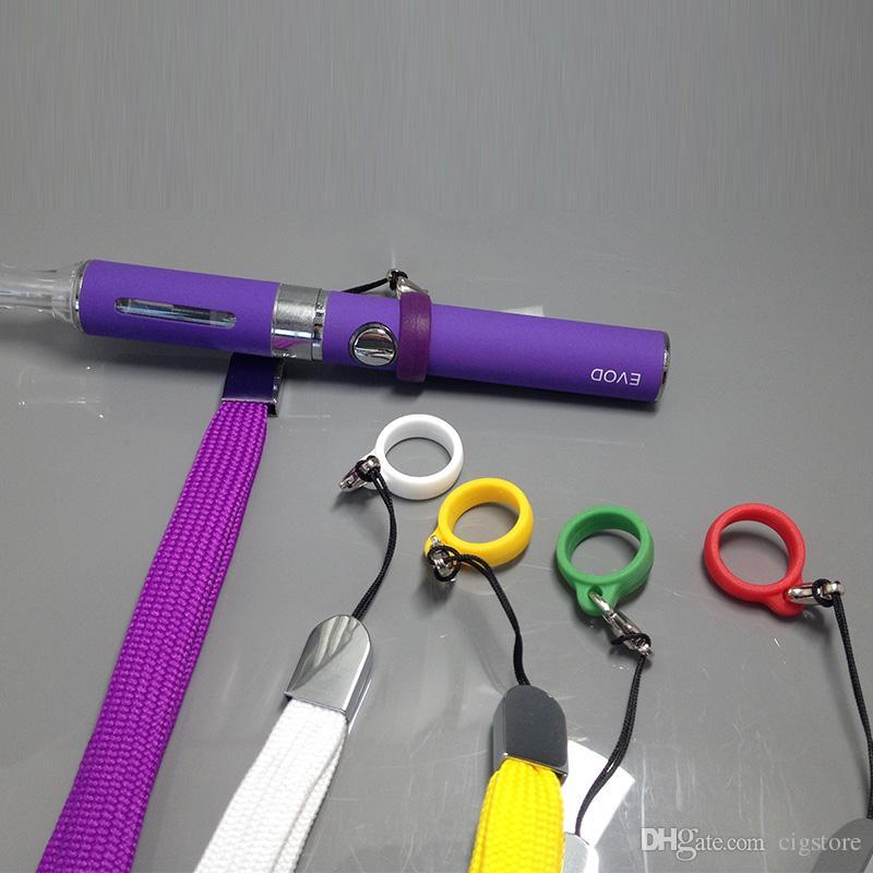Naszyjnik EGO Smaczne pierścień dla EGO EGO-T EGO-C-C Twist Battery Neck Smycz Multi Colors Pierścień Materiał silikonowy Eg Smycz Pierścień